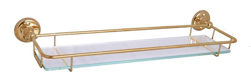 Glass Shelf brass - Haga 42 cm