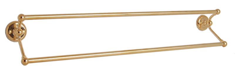 Handduksstång Dubbel - Haga - Mässing - klassisk stil - gammaldags inredning