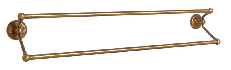 Handduksstång Dubbel - Haga - Brons - sekelskifte - gammal stil - klassisk inredning - retro