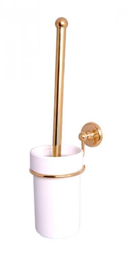 Toilet brush holder - Haga white porcelain/brass