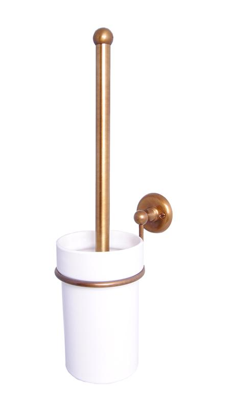 Toilet brush holder - Haga porcelain/bronze
