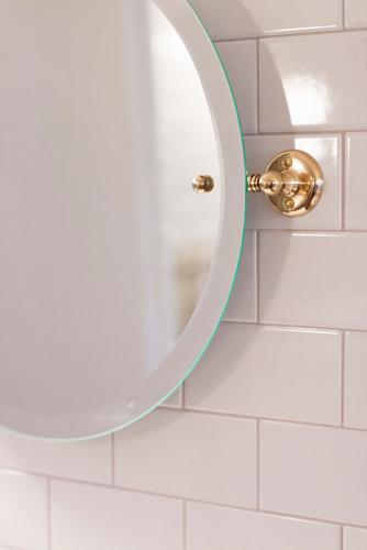 Bathroom Mirror - Haga round - Brass 45 cm