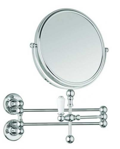 Cosmetic wall mirror - Burlington chrome