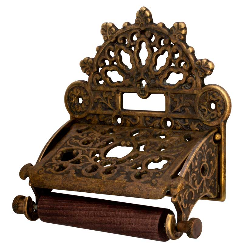 Toilet paper holder Ornamented - Antique
