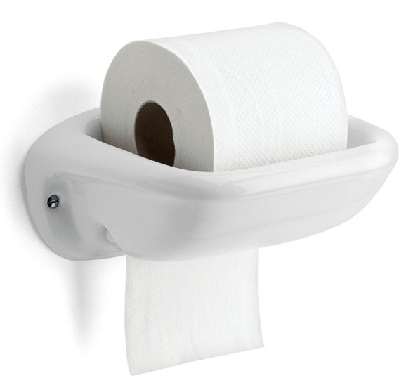 Toilet Roll Holder In Porcelain Old Style