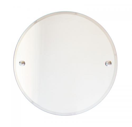 Bathroom Mirror round - Chrome 50 cm - old style - classic interior - old fashioned style - vintage