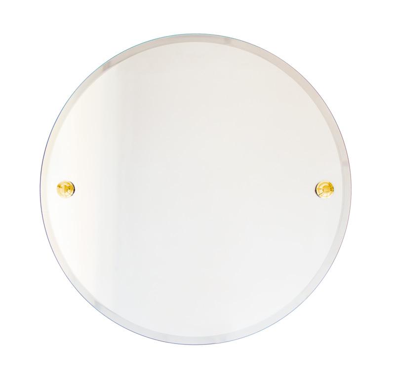 Bathroom Mirror round - Brass 50 cm