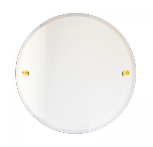 Bathroom Mirror round - Brass 50 cm - old style - classic interior - old fashioned style - vintage