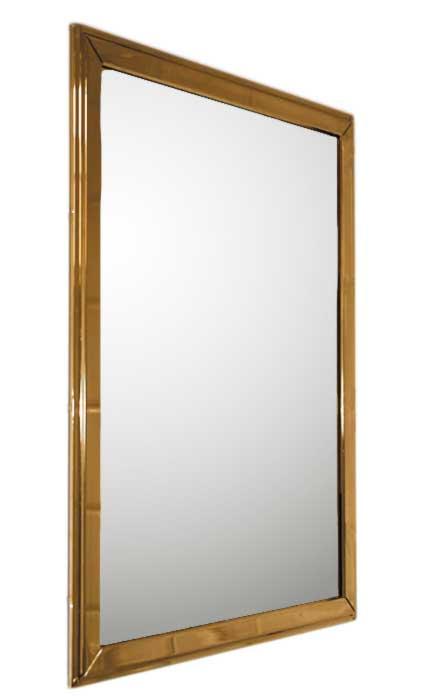 Bathroom mirror - Brass 53 x 40 cm