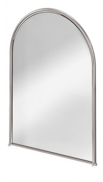 Bathroom Mirror Chrome burlington bathroom mirror in chrome - arc frame - classic style