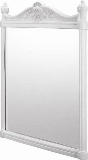 Bathroom Mirror - Georgian aluminium white