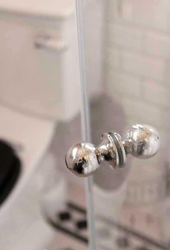 Shower wall handle - Double knob nickel