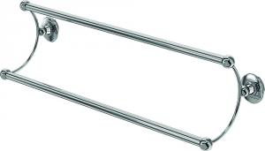 Double Towel Rail chrome - Burlington