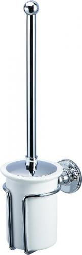 Toilet brush holder - Burlington white porcelain/chrome