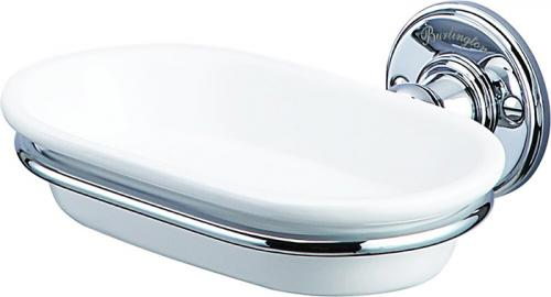 Soap dish porcelain/chrome - Burlington