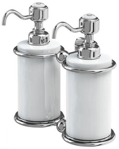 Soap Dispenser Double - Burlington - old fashioned style - oldschool interior
