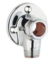 Faucet mount chrome - For wall mixer with external piping - old fashioned style - vintage interior - oldschool style