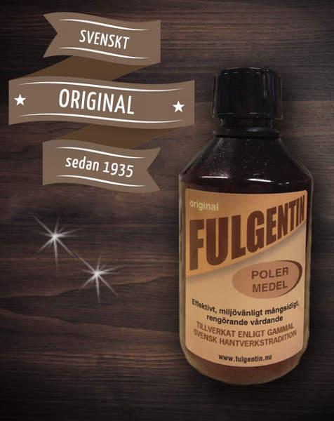 Fulgentin - Rengörings- & polérmedel 250 ml - sekelskifte - gammaldags inredning - retro
