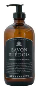 Tvål - Savon Suédois 480 ml - Pamplemousse & Bergamote - sekelskiftesstil - gammaldags inredning - klassisk stil - retro