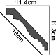 Taklist - PCN-2003 - sekelskiftesstil - gammaldags inredning - klassisk stil