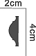 Dekorlist - PCR-6003 - sekelskifte - gammal stil - retro - gammaldags inredning