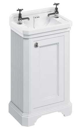 Tvättställsskåp Burlington - 51 cm vit/porslin/dörr - sekelskiftesstil - gammaldags inredning - klassisk stil - retro