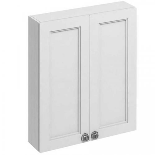 Wall unit bathroom double door - Burlington, matte white