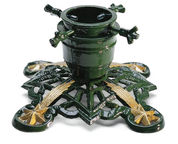 Julgransfot - Sekelskifte grön/guld - klassisk stil - retro - gammaldags stil