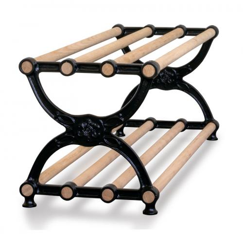 Shoe-rack - Sekelskifte cast iron & oak