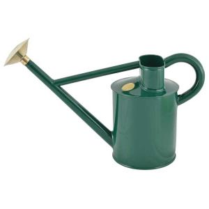 Traditional water can steel/brass 5 L - Green