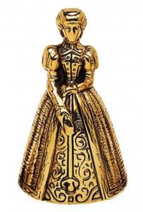 Bell Lady - Mässing 10 cm - sekelskfitesstil - gammaldags inredning - retro