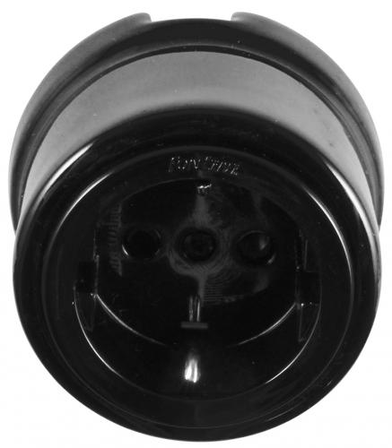 Outlet - Black porcelain II surface mounted - old fashioned style - classic interior - old style