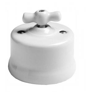 Retro Switch - White porcelain surface mounted