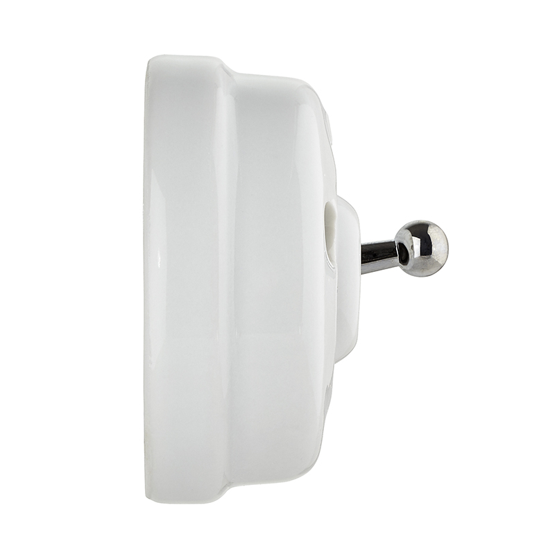 Toggle Switch - Porcelain/chrome surface mounted - old style - vintage interior - oldschool style - retro