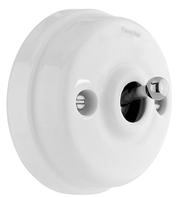 Toggle Switch - Porcelain/chrome, surface mounted