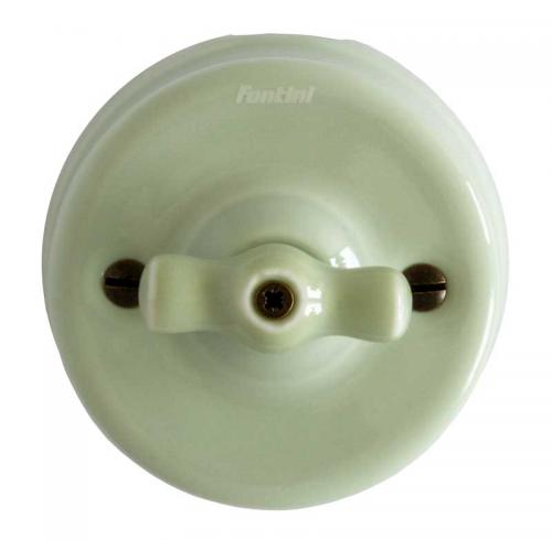 Switch - Light green porcelain surface mounted