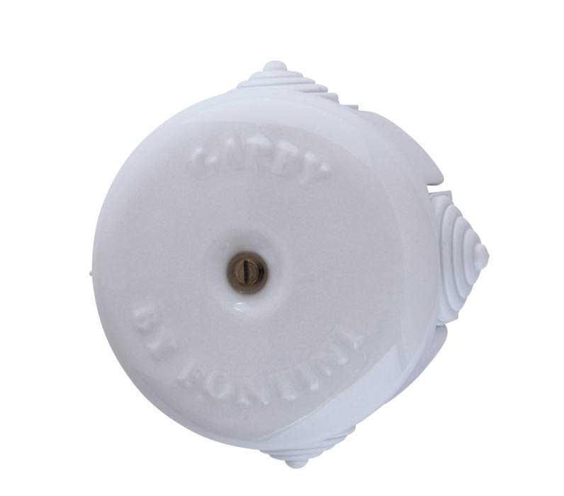 Koblingsboks - Hvit porselen 72 mm