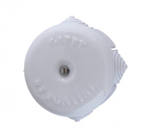 Connection box - White porcelain 72 mm