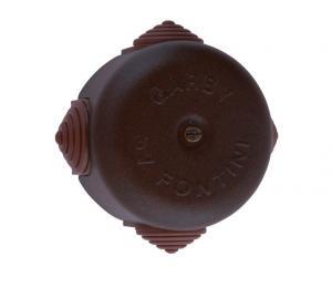 Kopplingsdosa - Antikbrunt stål 72 mm - sekelskiftesstil - gammaldags inredning - retro - gammal stil