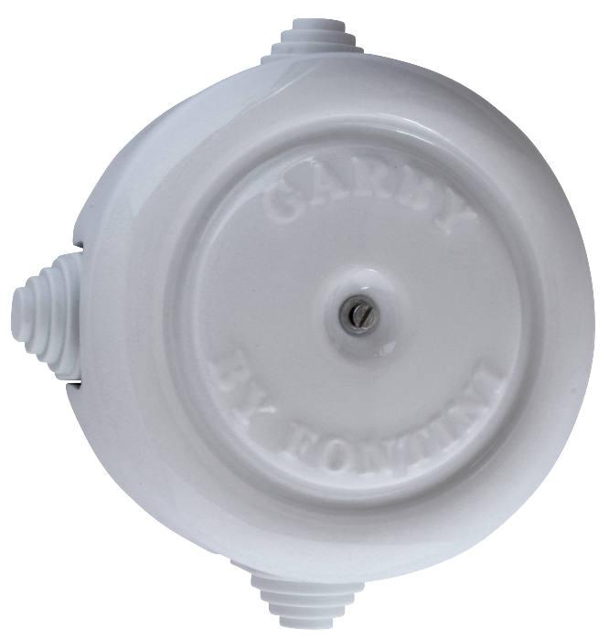 Koblingsboks - Hvit porselen stor 116 mm