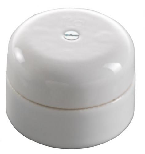 Connection Box - White porcelain 50 mm round - old style - vintage interior - oldschool