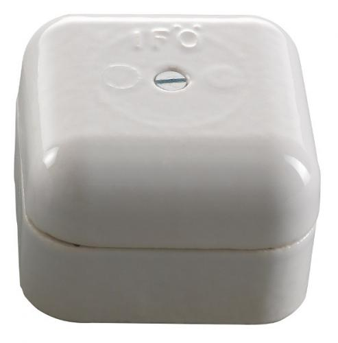 Connection Box - White porcelain 50 mm square - classic interior - oldschool style - old style