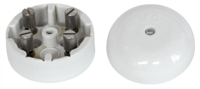 Kulodosa - Vit porslin 55 mm rund - gammal stil - klassisk inredning - retro - gammaldags stil