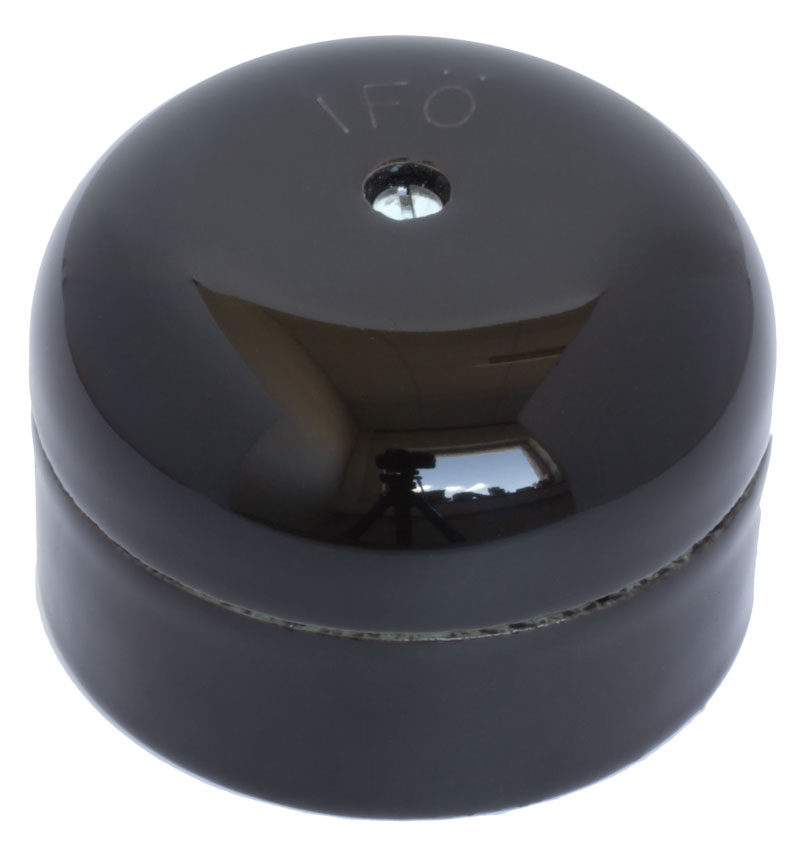 Connection Box - Black porcelain 55 mm round
