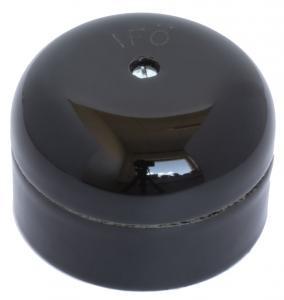 Connection Box - Black porcelain 55 mm round