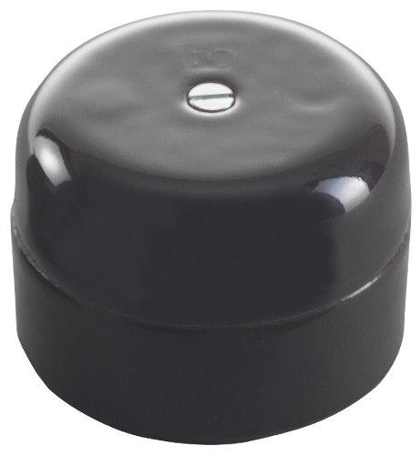 Connection Box - Black porcelain 50 mm round - old style - classic style - vintage interior