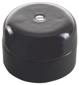 Connection Box - Black porcelain 50 mm round