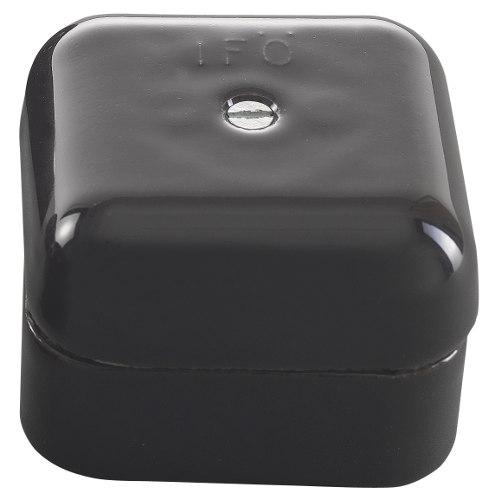 Connection Box - Black porcelain 50 mm square - old fashioned style - vintage interior - gammaldags stil