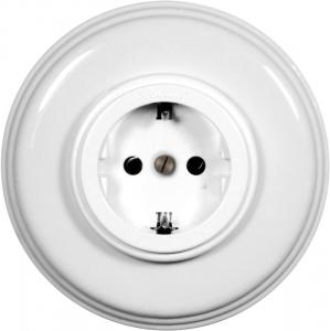 Fontini Outlet - White plastic with porcelain frame