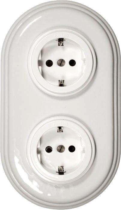Fontini Outlet - White porcelain/plastics 2 element frame